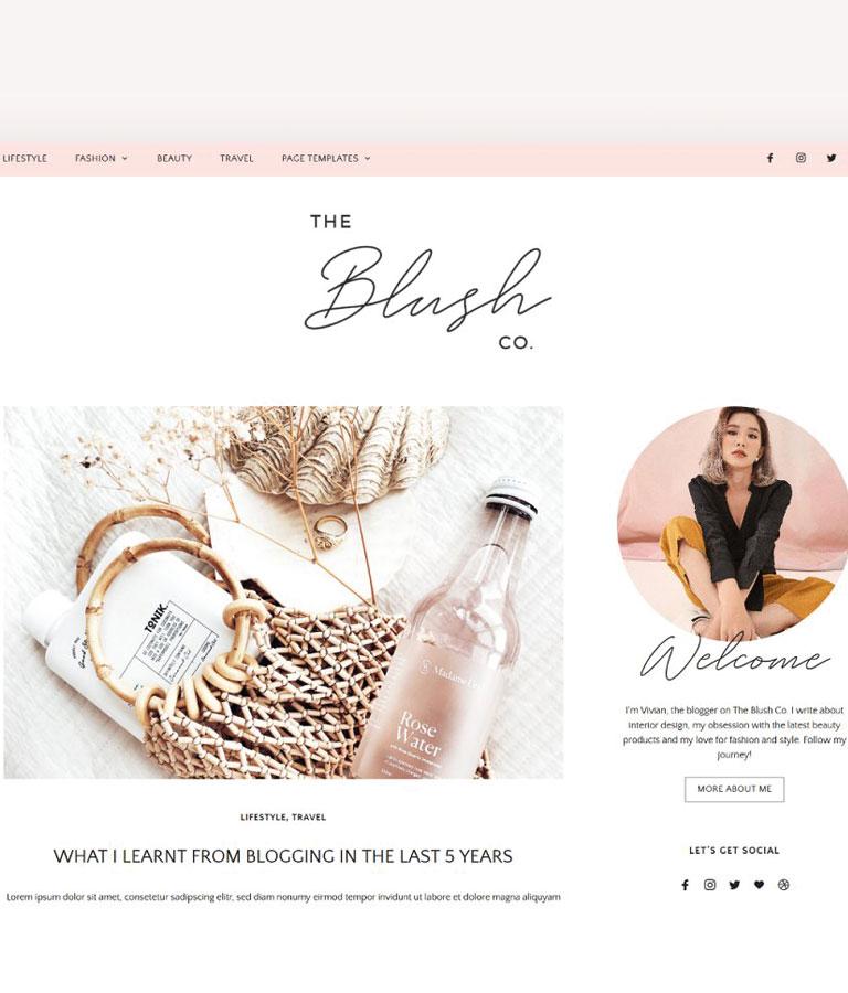 Lifestyle & Beauty Blog Theme
