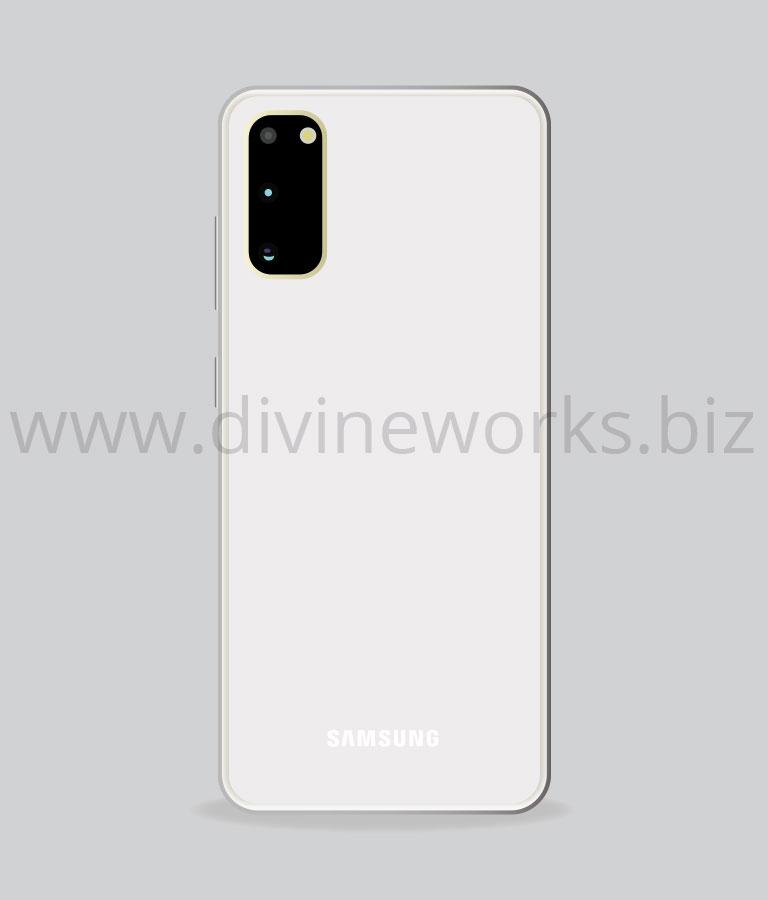 Download Free Samsung S20 Back Vector Illustration by Divine Works