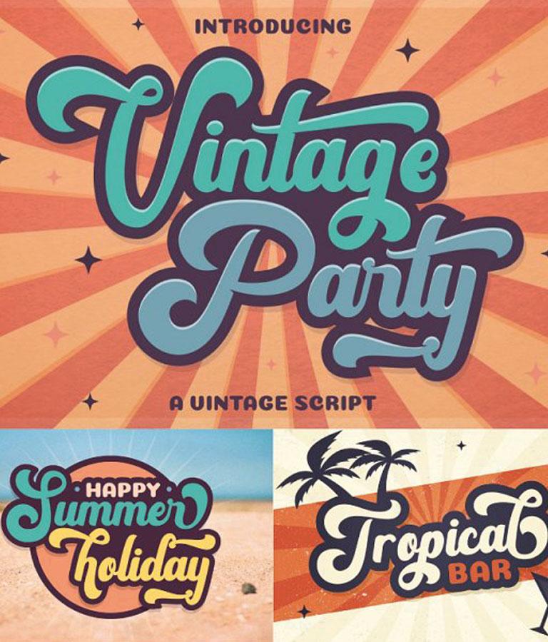 Vintage Font Bundles