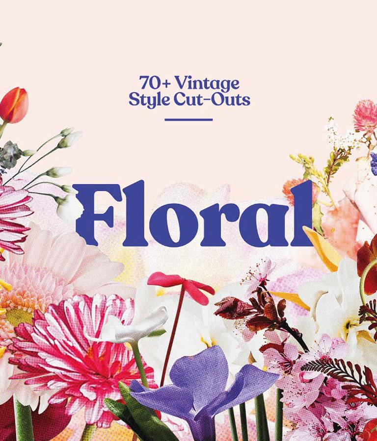 Floral - 70+ Vintage Style Cut-Outs