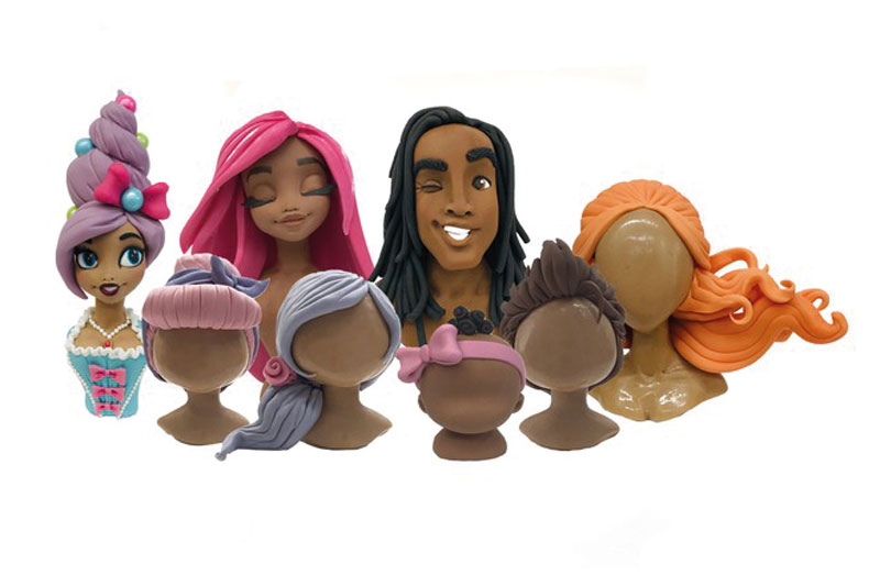 How to make sugar craft hair styles for your models