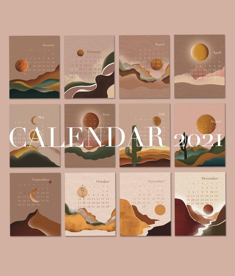 Abstract Calendar 2021