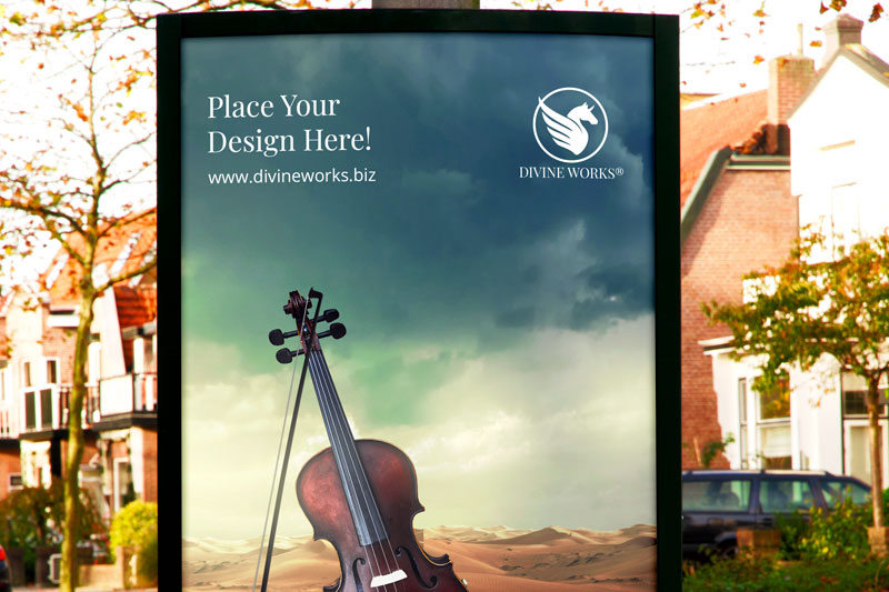 Download Free Billboard Outdoor Mockup by Divine Works