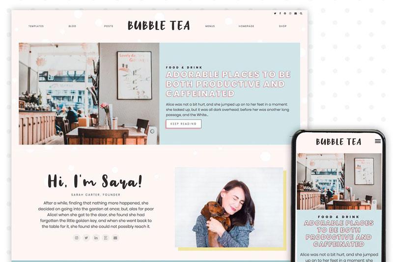Bubble Tea WordPress Theme Blog