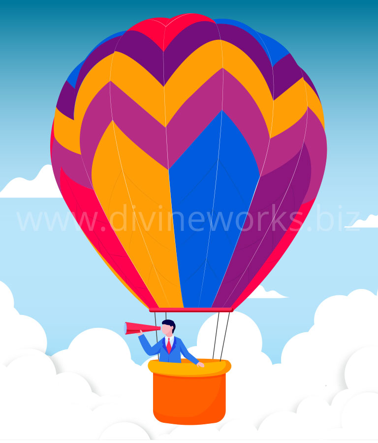 Download Free Adobe Illustrator Hot Air Balloon Vector by Divine Works