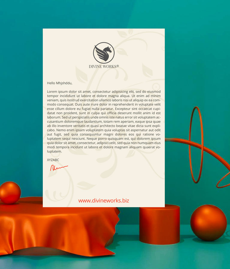 Download Free Letterhead PSD Mockup by Divine Works