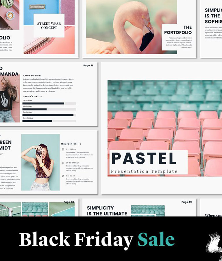 PASTEL Lookbook Keynote Template