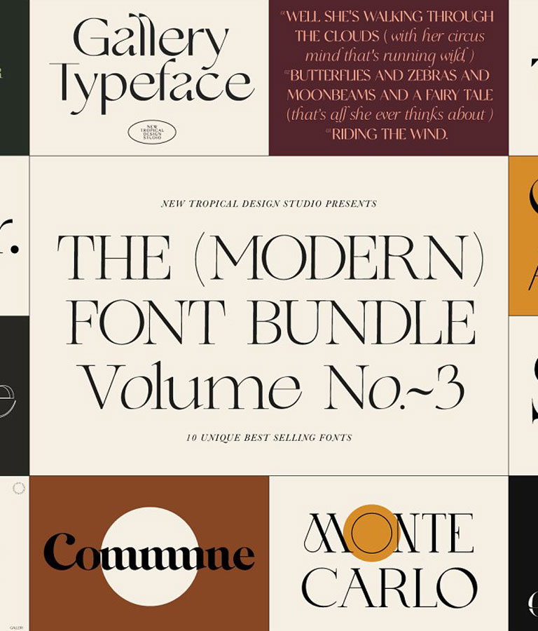 The Modern Font Bundle Vol.3