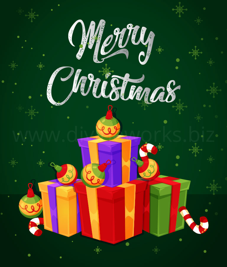 Download Free Adobe Illustrator Christmas Gifts Vector Illustration by Divine Works
