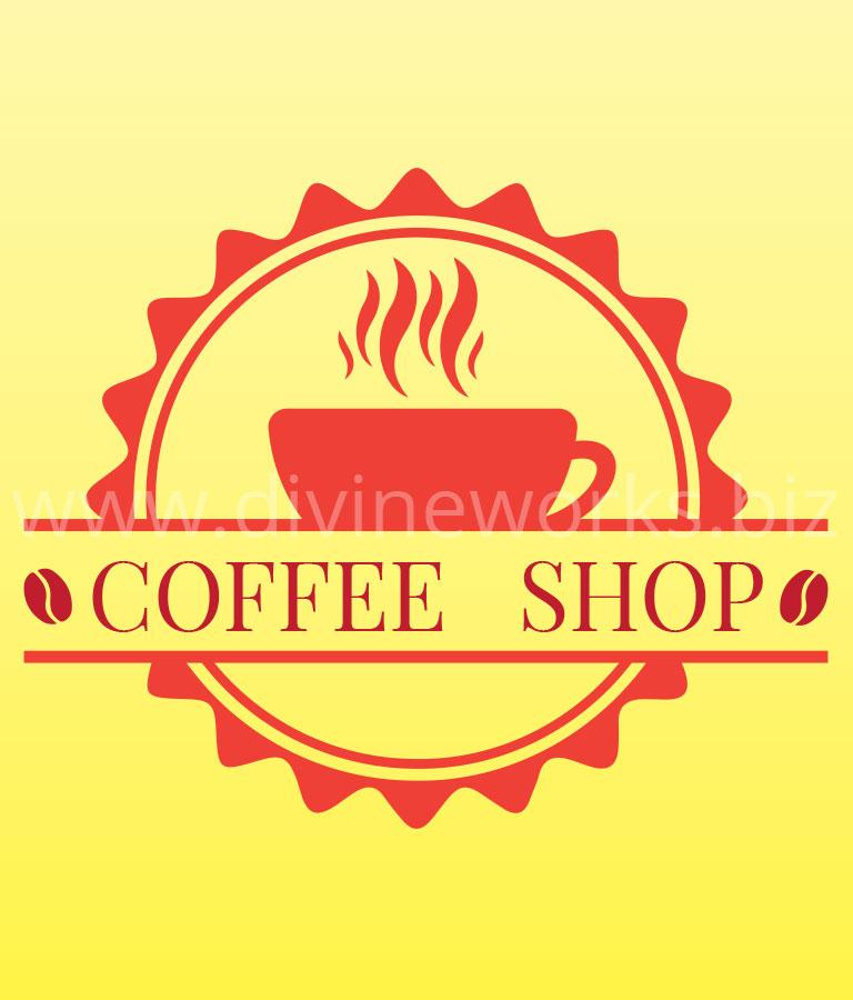 Download Free Coffee Shop Vintage Logo Vector by Divine Works