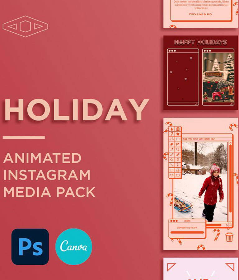Holiday IG Kit in PSD & CANVA