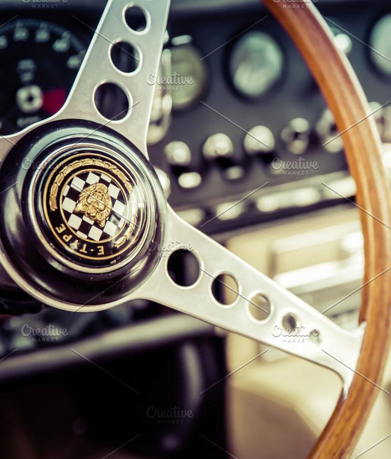 Jaguar e Vintage Stock Photo