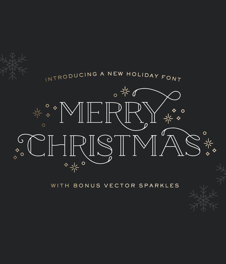 Merry Christmas Font - With Spar