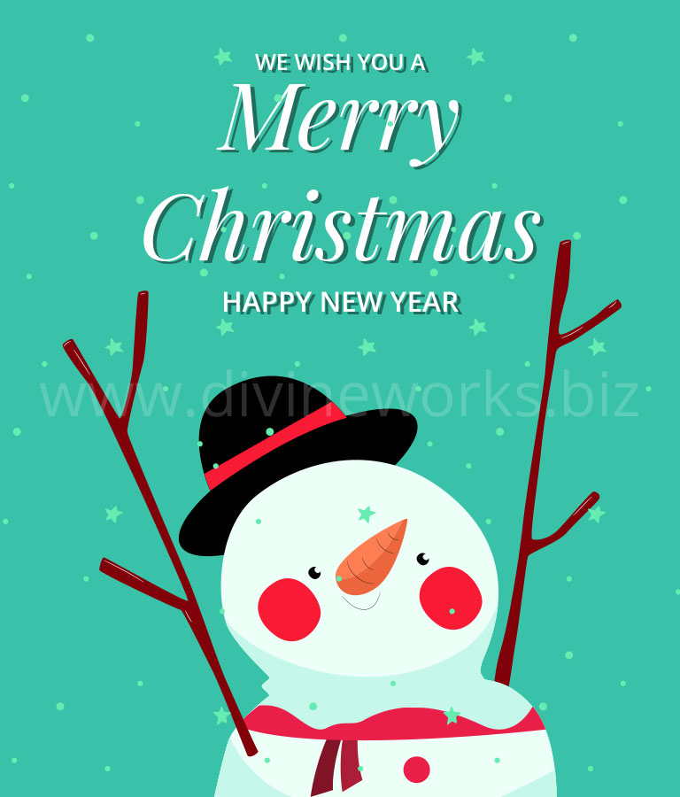 Download Free Merry Christmas Vector Illustration by Divine Works