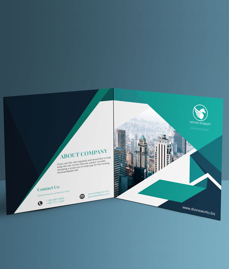 Download Free Square Bi-Fold Brochure Mockup by Divine Works
