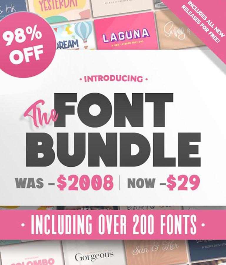 The HUGE Font Bundle (98% OFF)