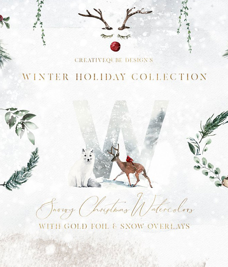 Winter Holiday Watercolor Set
