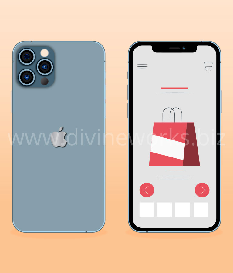 Download Free Adobe Illustrator iPhone 12 Pro Vector Illustration by Divine Works