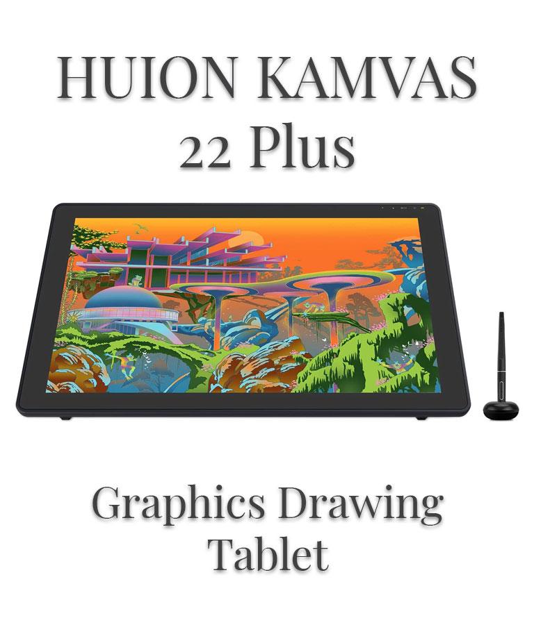 2020 HUION KAMVAS 22 Plus Graphics Drawing Tablet