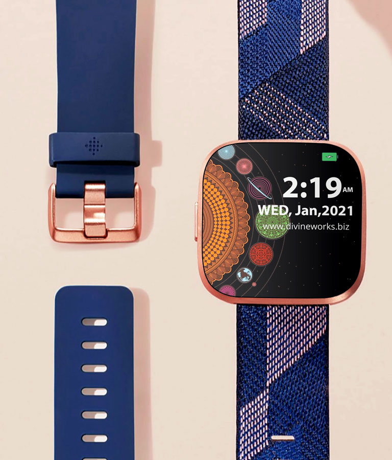 Download Free Fitbit Versa Smartwatch Mockup by Divine Works