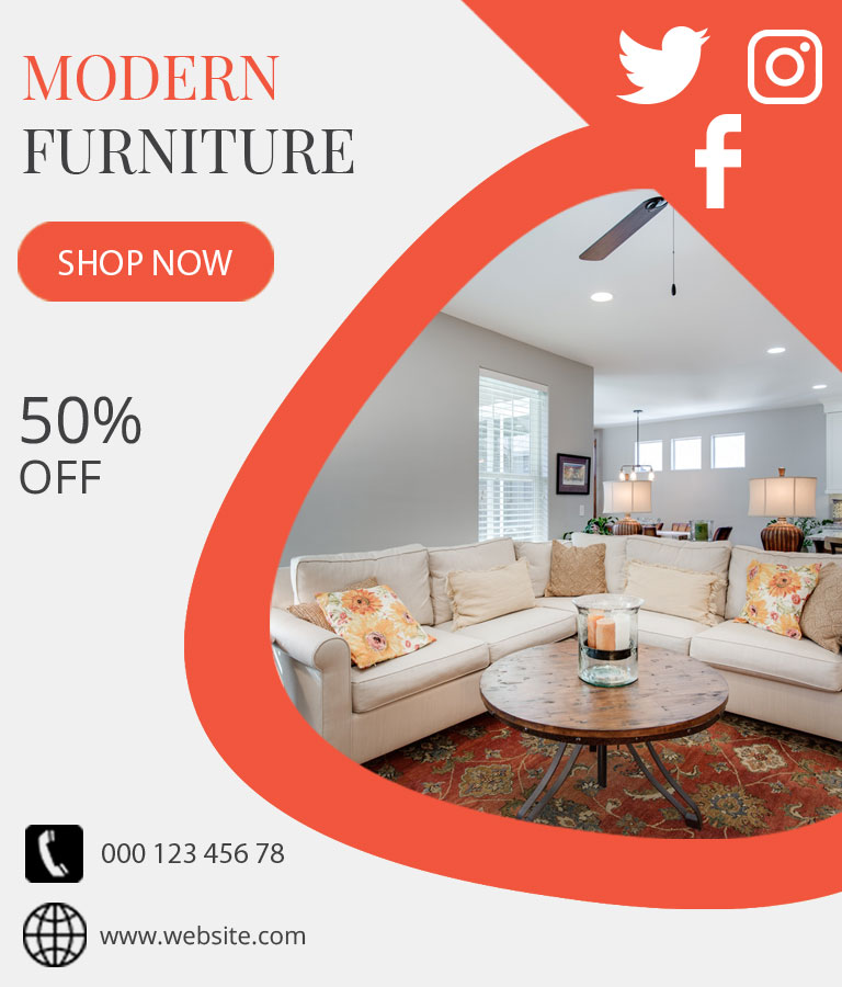 Download Free Furniture Sale Template by Divine Works