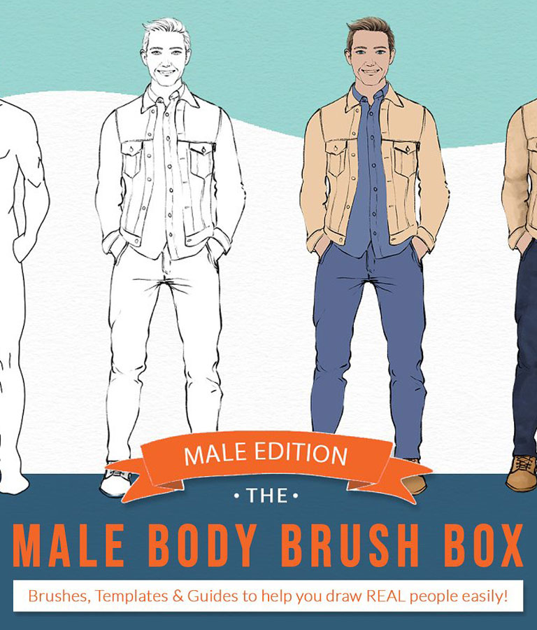 Male Body Brushes -Procreate & More!