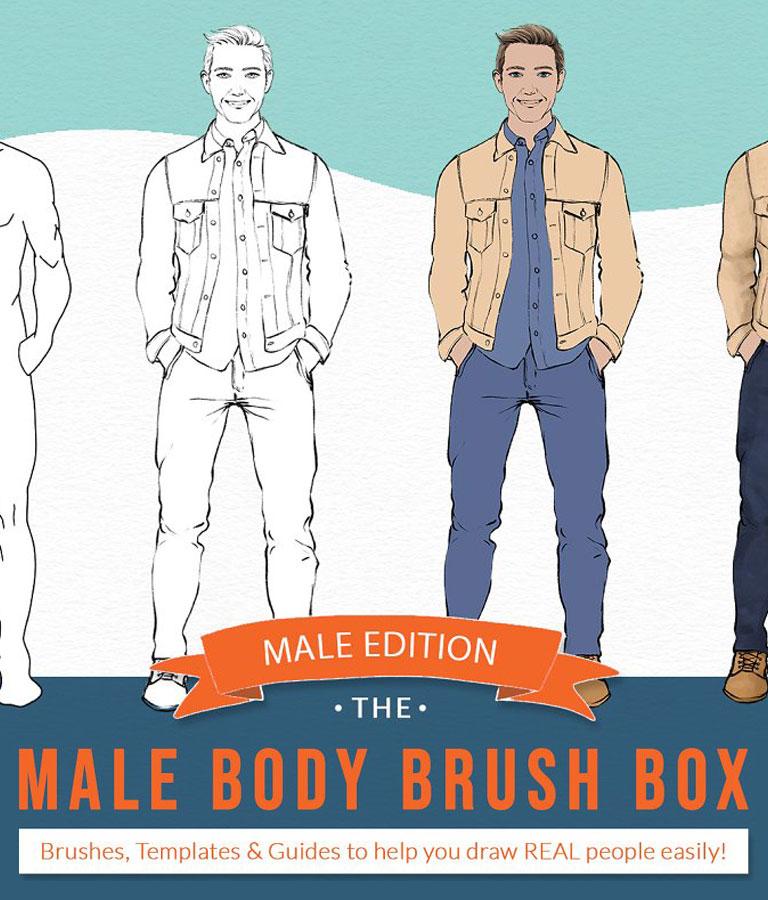 Male Body Brushes -Procreate & More!
