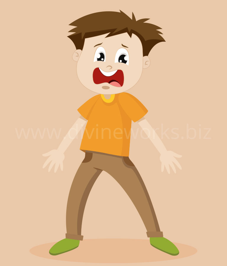Download Free Scared Boy Character Vector by Divine Works