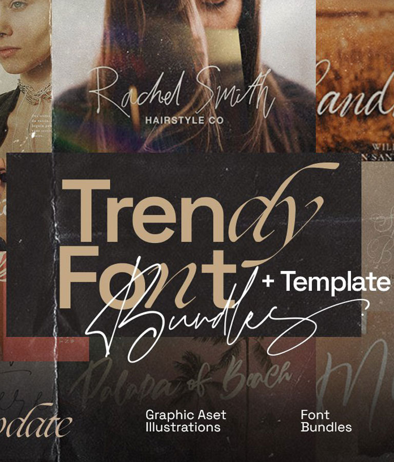 Trendy Font Elegant Bundle