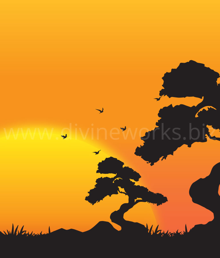 Download Free Vector Sunset Silhouette by Divine Works
