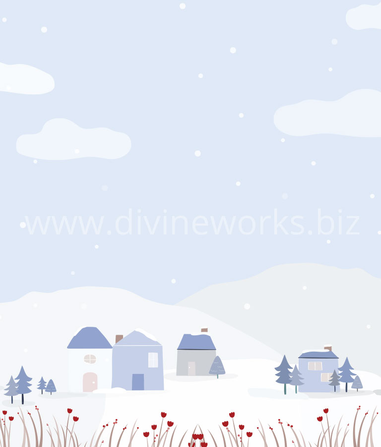 Download Free Winter Houses Vector by Divine Works