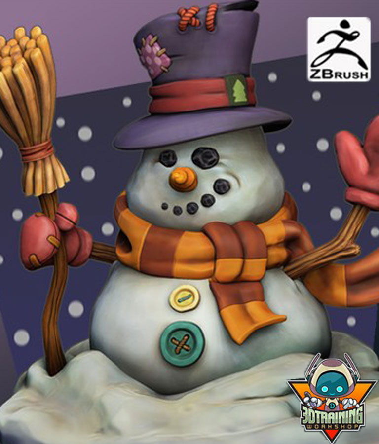Learning ZBrush! Creating The Wintery Snowman