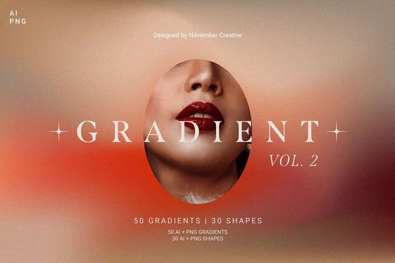 80 Vibrant Gradients & Shapes