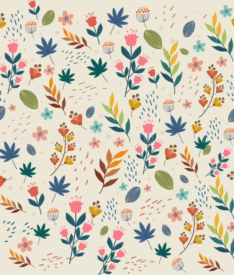 Download Free Flower Pattern Vector by Divine Works