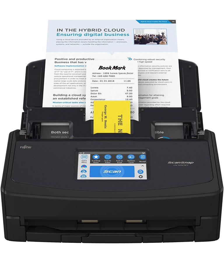 Fujitsu ScanSnap iX1600 Versatile Cloud Enabled Document Scanner
