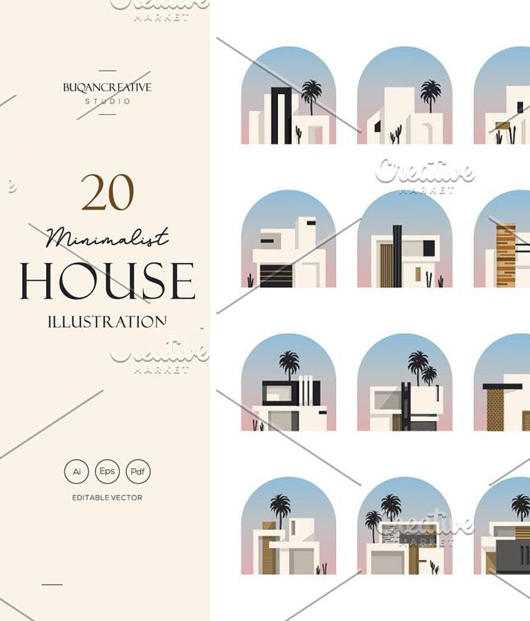 Minimalist House Illustration