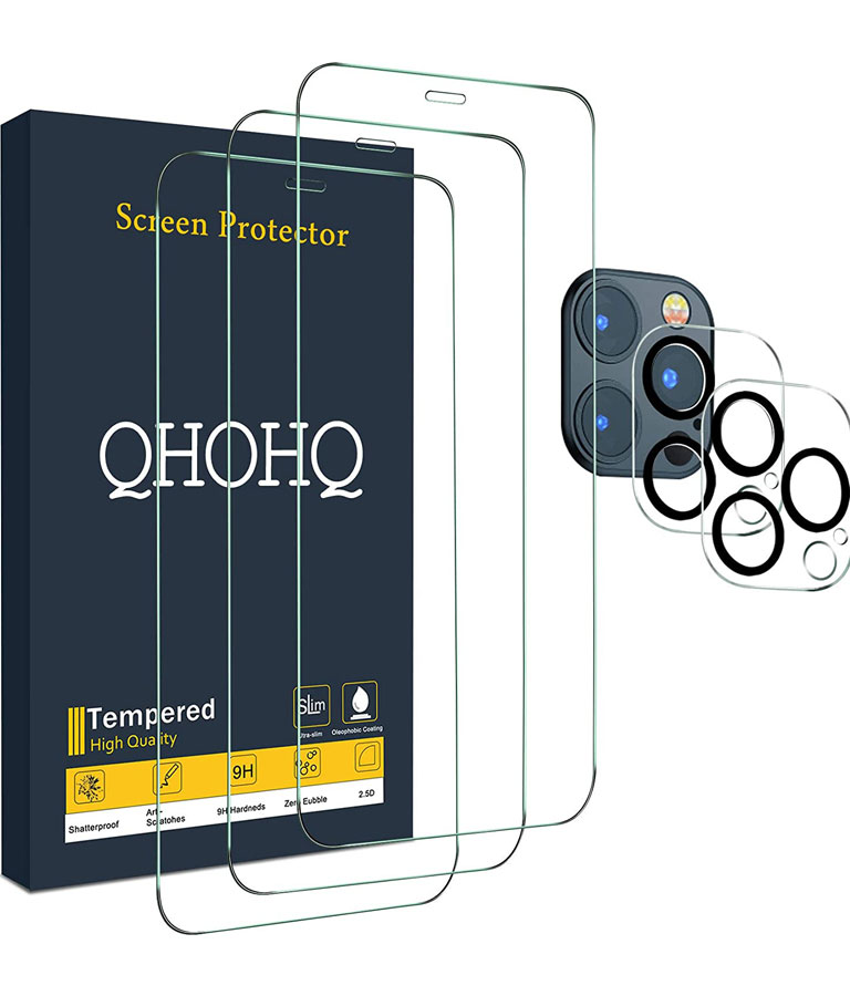 QHOHQ 3 Pack Screen Protector for iPhone 12 Pro Max