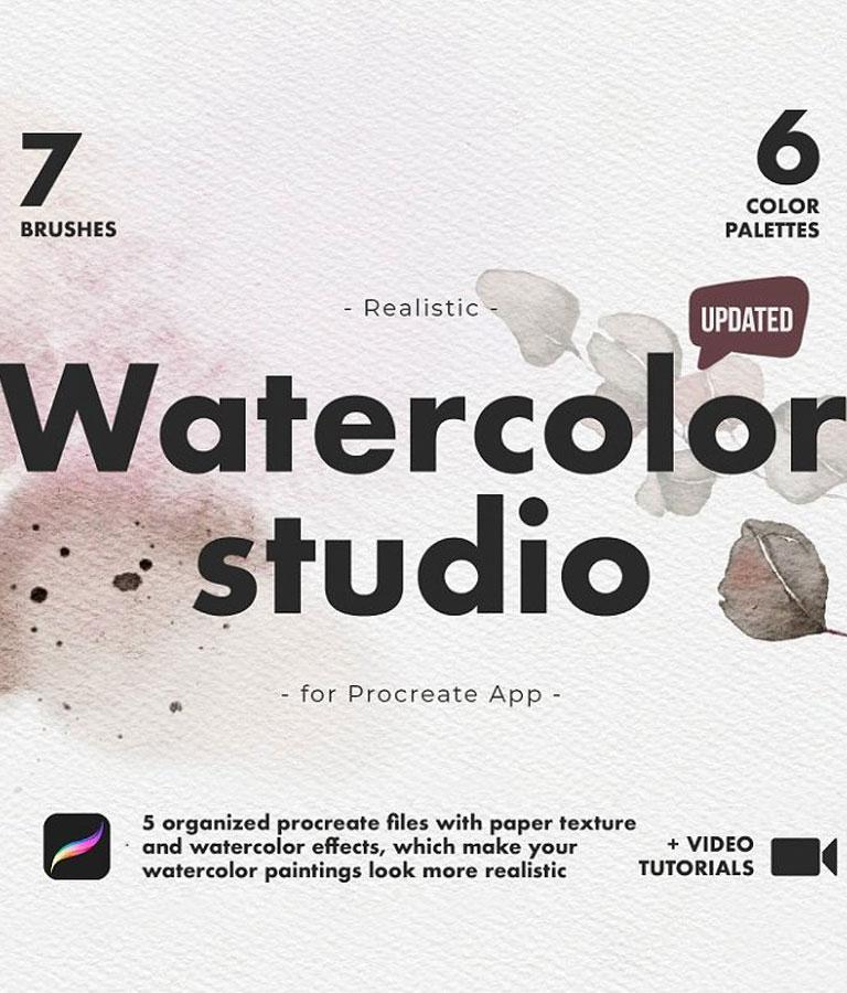 Realistic Procreate Watercolor