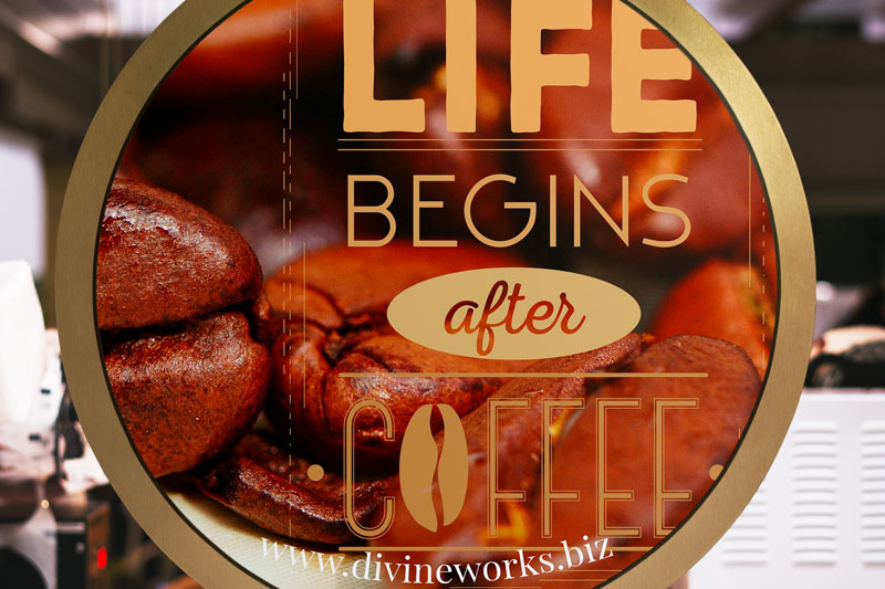 Download Free Round Cafe Signage Mockup by Divine Works
