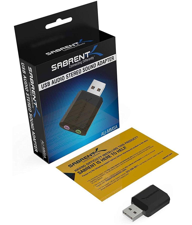 Sabrent USB External Stereo Sound Adapter