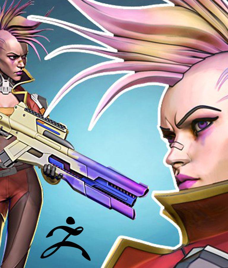 Stylized Cyberpunk Girl in Zbrush