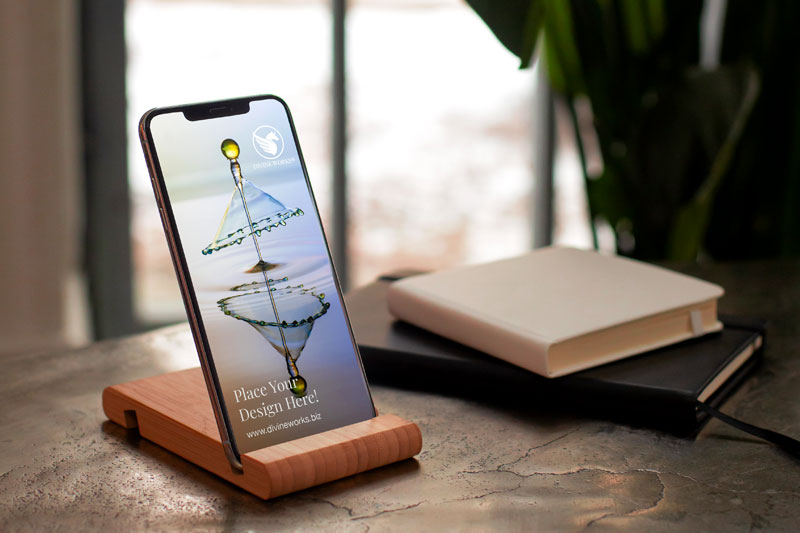 Download Free iPhone 12 On Docked Mockup by Divine Works