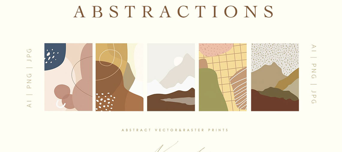 Abstract Cozy Home Illustrations