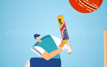 Download Free Cricket Player Vector Illustration by Divine Works