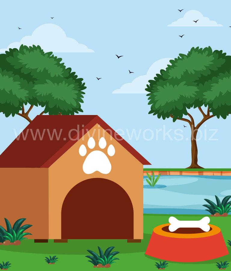 Dog House Vector Illustration