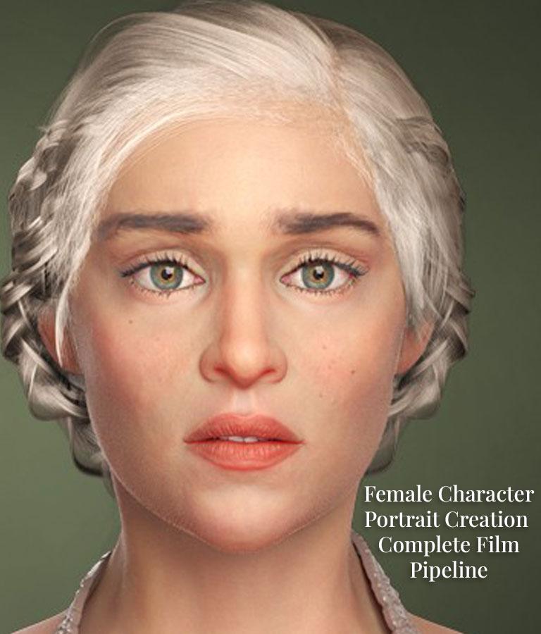 Female Character Portrait Creation