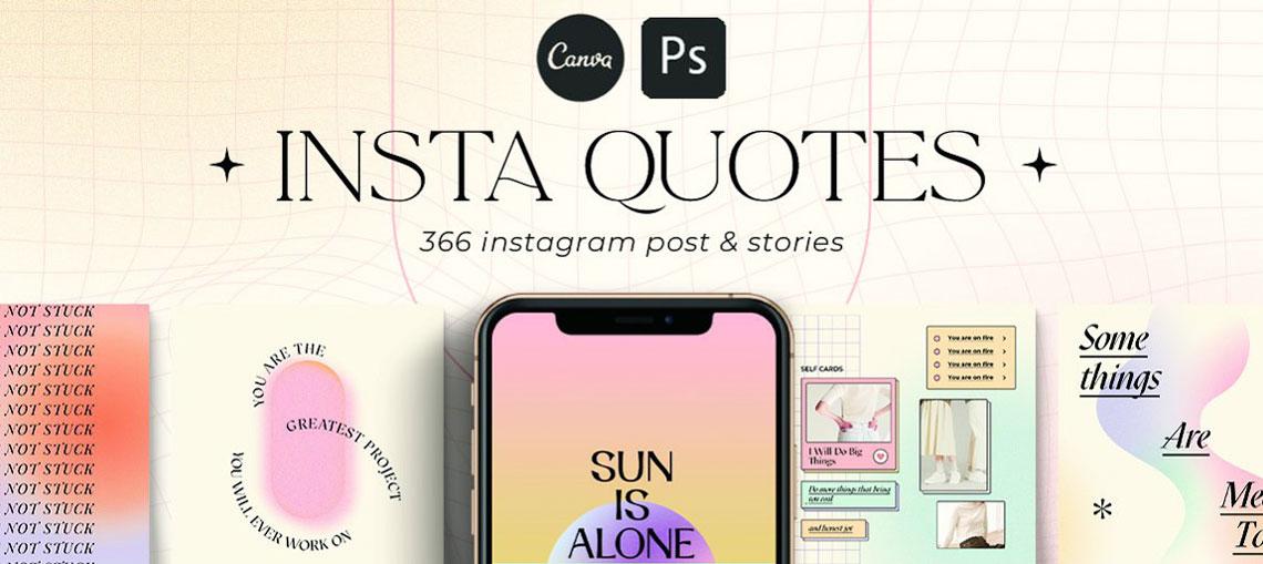 Instagram Quotes Gradient CANVA PS