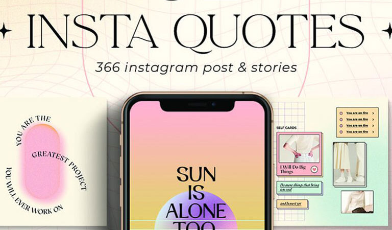 Instagram Quotes Gradient CANVA PS