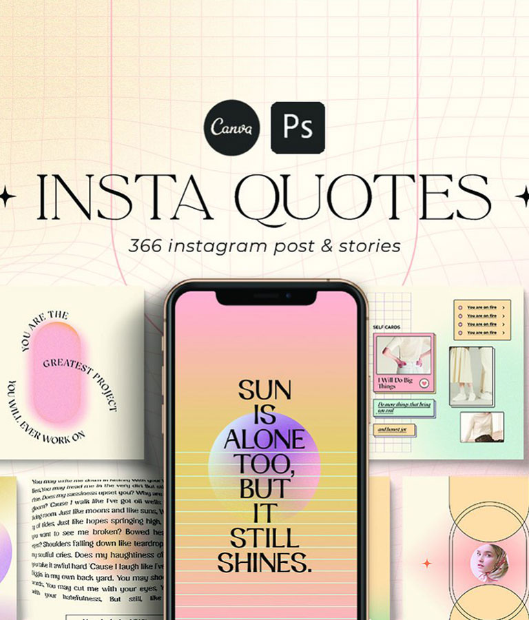 Instagram Quotes Gradient
