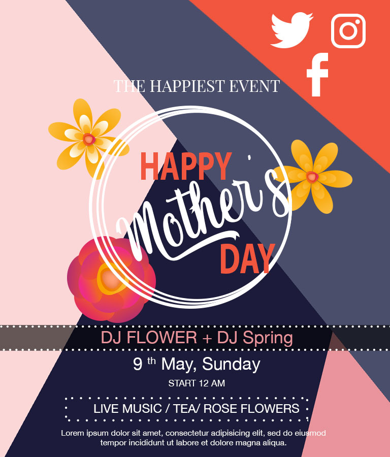 Dwonload Free Mother's Day Social Media Template by Divine Works